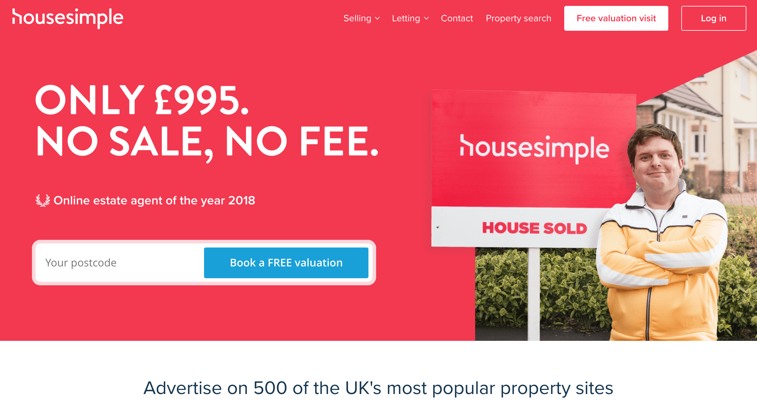 £995 No sale, No Fee